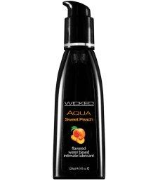 Оральный лубрикант Wicked Aqua Sweet Peach со вкусом персика 120 мл