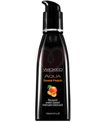 Оральный лубрикант Wicked Aqua Sweet Peach со вкусом сочного персика 120 мл
