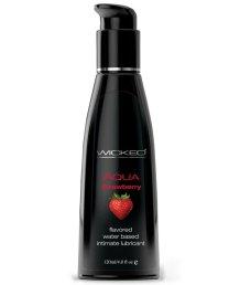 Оральный лубрикант Wicked Aqua Strawberry со вкусом сочной клубники 120 мл
