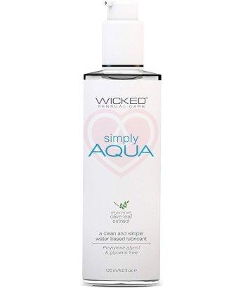 Лубрикант на водной основе Wicked Simply Aqua с экстрактом листа оливы 120 мл