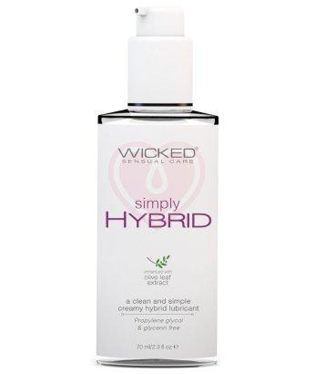 Водно-силиконовый лубрикант Wicked Simply Hybrid с экстрактом листа оливы 70 мл