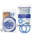 Набор из двух синих колец разного диаметра Silicone Cock Ring Set