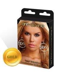 Круглые серьги Sexy золотые