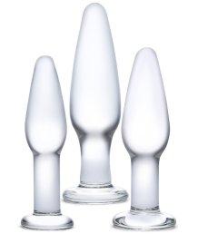 Набор из 3 стеклянных анальных пробок Glas Anal Set