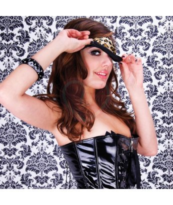 Маска на глаза Peek-A-Boo Love Mask леопардовая