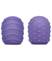 Рельефные силиконовые насадки для Le Wand Petite фиолетовые