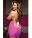 Розовое платьице на тонких бретелях с трусиками Plus size