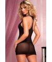 Короткое платье обнажающее плечи черное