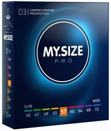 Презервативы увеличенного размера MY.SIZE №57 3шт