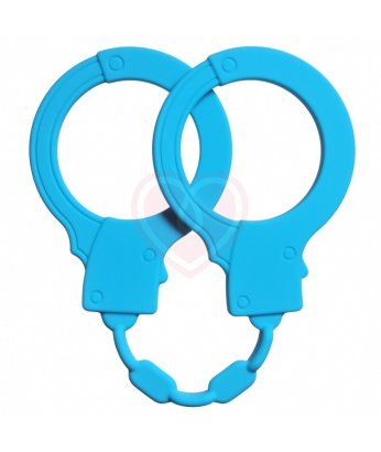Силиконовые наручники Stretchy Cuffs синие