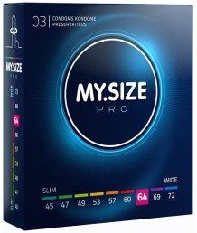Большие презервативы MY.SIZE №64 3шт