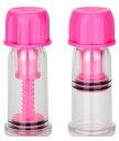 Винтовые помпы для сосков Vacuum Twist Suckers розовые
