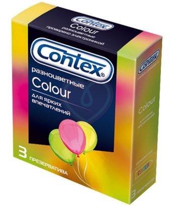 Презервативы Contex Color разноцветные 3 шт