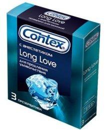 Презервативы Contex Long Love с анестетиком 3 шт