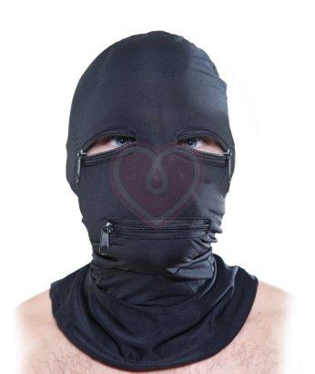 Эластичная маска на лицо Zipper Face Hood черная
