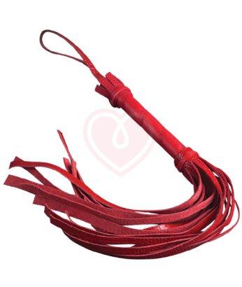 Кожаная плетка Sitabella 40см красная