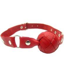 Кожаный плетеный кляп Sitabella красный
