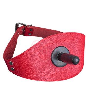 Страпон-бондаж на бедро красный