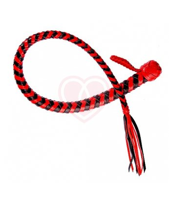 Кнут кожаный Змея красно-чёрная