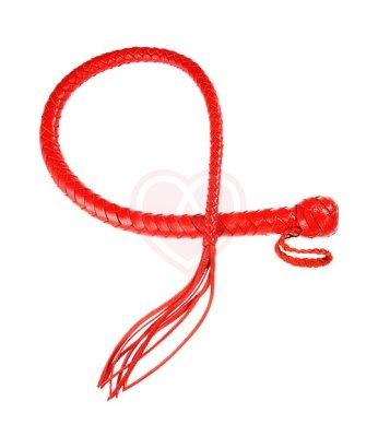 Кнут кожаный Змея красный
