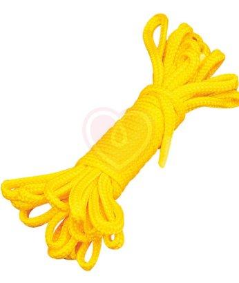 Веревка для связывания 9м желтая