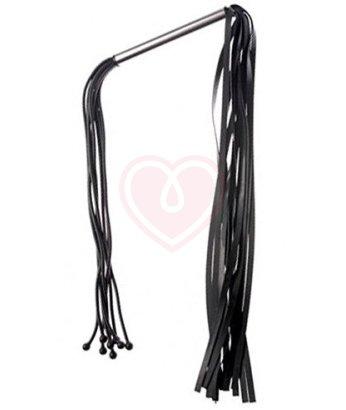 Двусторонняя латексная плеть чёрная
