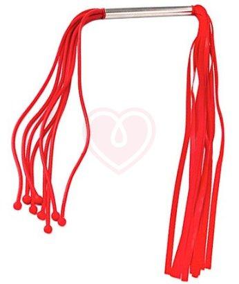 Двусторонняя латексная плеть красная