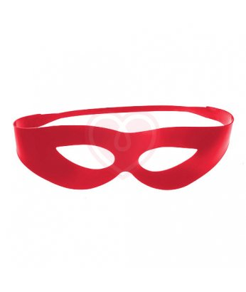 Маска из латекса с прорезями для глаз красная