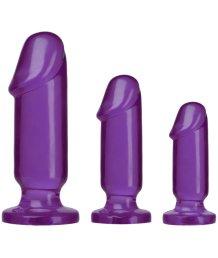 Набор из трех анальных стимуляторов Crystal Jellies Anal Starter Kit фиолетовый