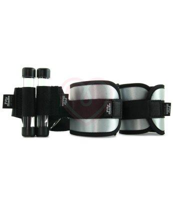 Мягкие атласные наручники с фиксацией на дверь '50 оттенков серого' Ultimate Control