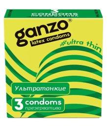 Презервативы Ganzo Ultra thin ультратонкие 3шт