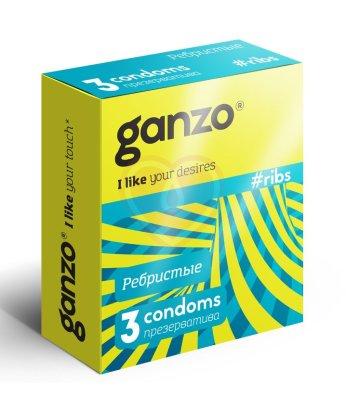 Презервативы Ganzo Ribs рельефные 3шт