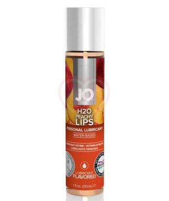 Съедобный лубрикант System JO H2O Flavored Peachy Lips с ароматом Персик 30 мл