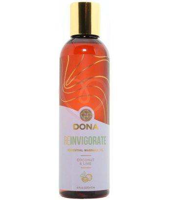 Массажное масло Dona Reinvigorate кокос и лайм 120 мл