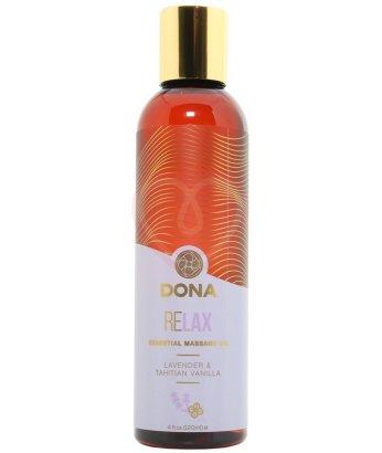 Массажное масло Dona Relax ваниль и лаванда 120 мл