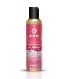 Массажное масло с феромонами Dona Scented Oil Flirty Aroma Blushing Berry 125 мл