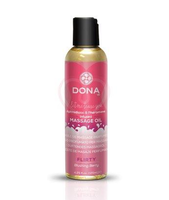 Массажное масло с феромонами Dona Scented Oil Flirty Aroma Blushing Berry 125 мл