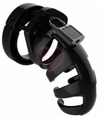 Мужской пояс верности Shots Man Cage Model 02 черный 9 см