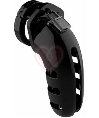 Мужской пояс верности Shots Man Cage Model 06 чёрный 14 см