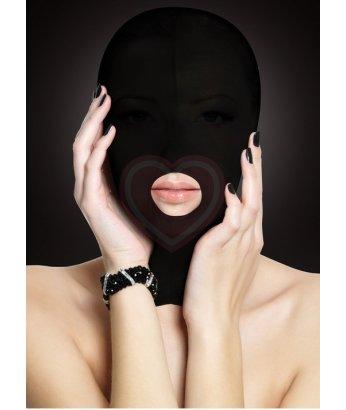 Маска закрытая с вырезом для рта Ouch! Submission Mask чёрная