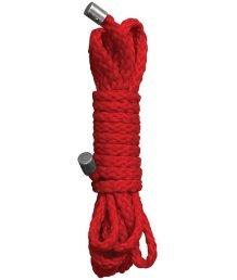 Верёвка Ouch! Kinbaku Mini Rope 1,5 метра красная