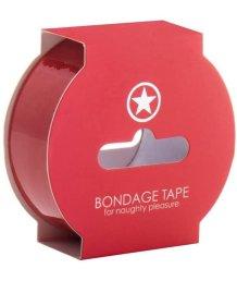 Скотч для бондажа Ouch! Bondage Tape 17,5 метров красный
