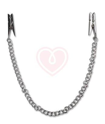 Прищепки на соски с металлической цепью Pipedream Nipple Chain Clips