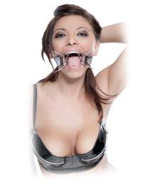 Расширитель для рта металлический на кожаном ремешке Pipedream