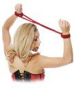 Фиксаторы Японский шелк Pipedream Silk Rope Love Cuffs красные