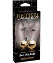 Вагинальные шарики Pipedream Gold Ben-Wa Balls золотые