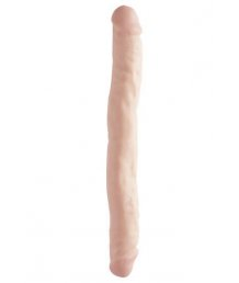 Фаллоимитатор двухсторонний Basix Double Dong 33 см телесный