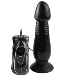 Анальный стимулятор-пульсатор с вибрацией Pipedream Vibrating Thruster чёрный