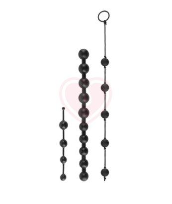 Набор анальных цепочек Pipedream Beginner's Bead Kit чёрный