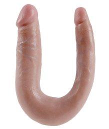 Двухсторонний фаллоимитатор King Cock U-Shaped Double малый телесный